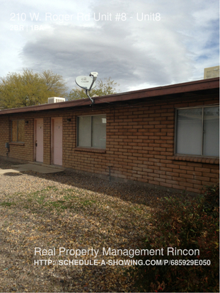 2 Bedrooms 1 Bathroom House for rent at 210 W. Roger Rd, in Tucson, AZ
