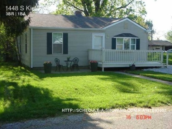 3 Bedrooms 1 Bathroom House for rent at 1448 S Kiel Ave in Indianapolis, IN