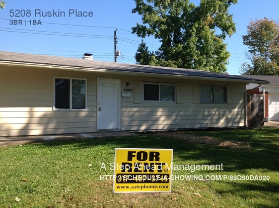 3 Bedrooms 1 Bathroom House for rent at 5208 Ruskin Place in Indianapolis, IN