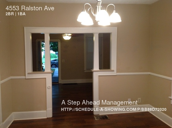 2 Bedrooms 1 Bathroom House for rent at 4553 Ralston Ave in Indianapolis, IN