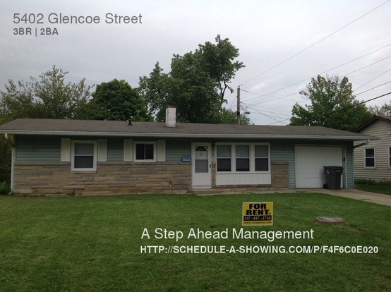 3 Bedrooms 1 Bathroom House for rent at 5402 Glencoe Street in Indianapolis, IN