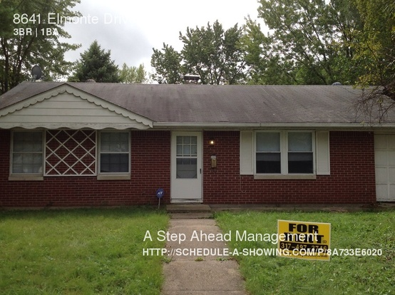 3 Bedrooms 1 Bathroom House for rent at 8641 Elmonte Drive in Indianapolis, IN