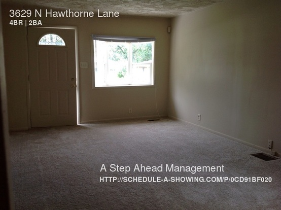 4 Bedrooms 2 Bathrooms House for rent at 3629 N Hawthorne Lane in Indianapolis, IN