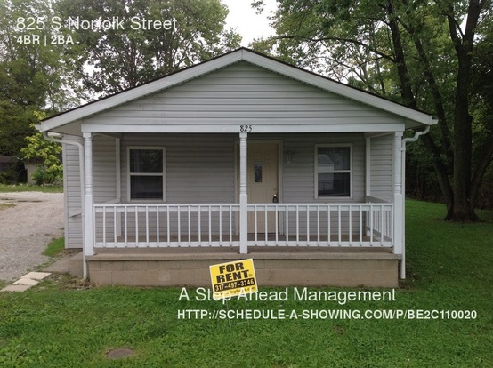 4 Bedrooms 2 Bathrooms House for rent at 825 S Norfolk Street in Indianapolis, IN