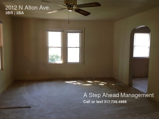 3 Bedrooms 2 Bathrooms House for rent at 2012 N Alton Ave in Indianapolis, IN
