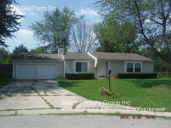 3 Bedrooms 2 Bathrooms House for rent at 8220 Old Farm Rd in Indianapolis, IN