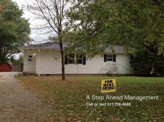 3 Bedrooms 2 Bathrooms House for rent at 11012 E Monroe Court in Indianapolis, IN
