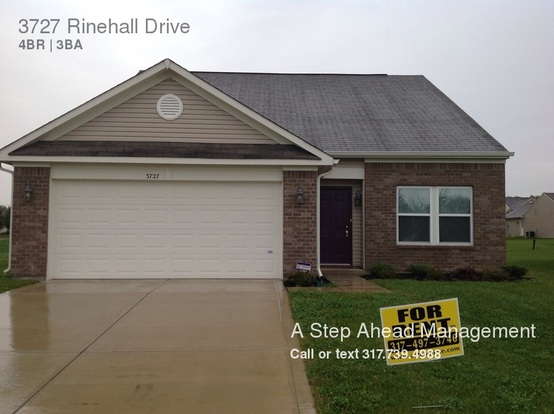 4 Bedrooms 2 Bathrooms House for rent at 3727 Rinehall Drive in Indianapolis, IN