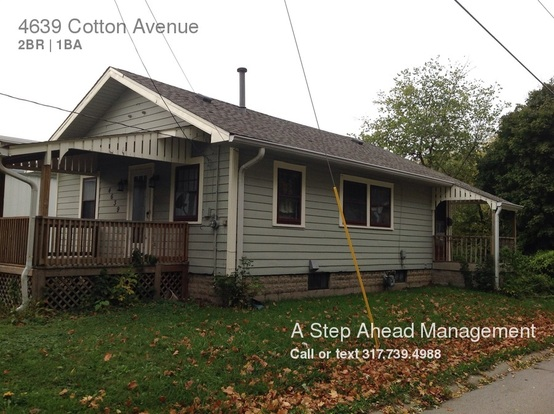 2 Bedrooms 1 Bathroom House for rent at 4639 Cotton Avenue in Indianapolis, IN