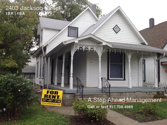 1 Bedroom 1 Bathroom House for rent at 2403 Jackson Street in Indianapolis, IN