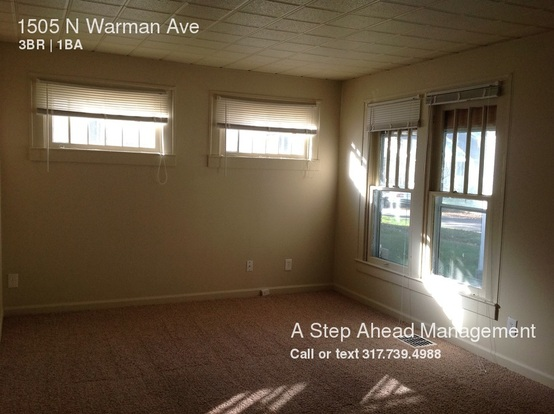 3 Bedrooms 1 Bathroom House for rent at 1505 N Warman Ave in Indianapolis, IN