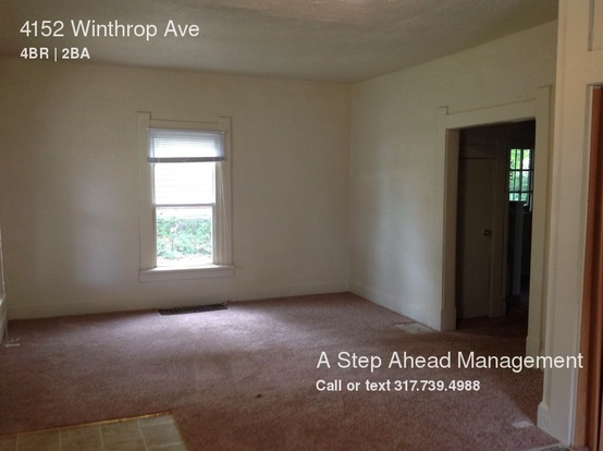 4 Bedrooms 1 Bathroom House for rent at 4152 Winthrop Ave in Indianapolis, IN