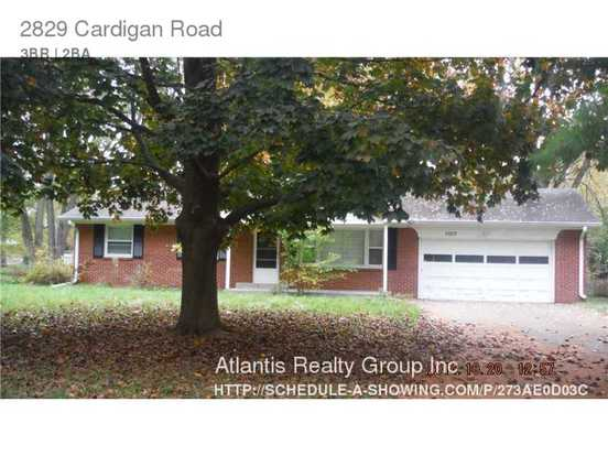 3 Bedrooms 2 Bathrooms House for rent at 2829 Cardigan Road in Indianapolis, IN