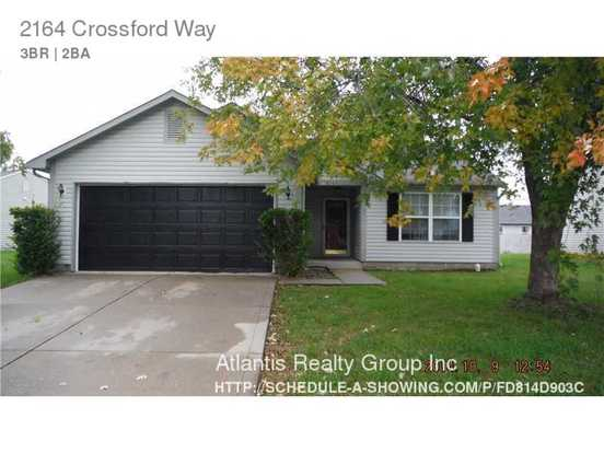3 Bedrooms 2 Bathrooms House for rent at 2164 Crossford Way in Indianapolis, IN
