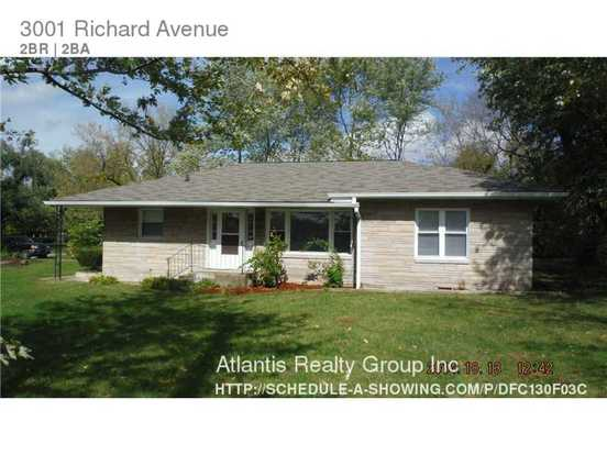 2 Bedrooms 2 Bathrooms House for rent at 3001 Richard Avenue in Indianapolis, IN