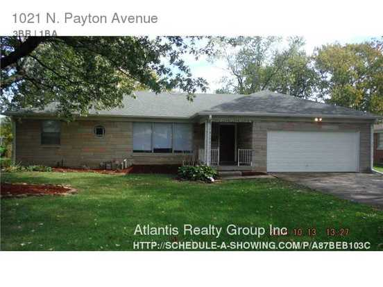 3 Bedrooms 1 Bathroom House for rent at 1021 N Payton Avenue in Indianapolis, IN