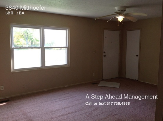 3 Bedrooms 1 Bathroom House for rent at 3840 Mitthoefer in Indianapolis, IN