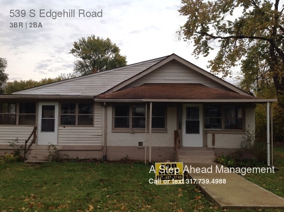3 Bedrooms 2 Bathrooms House for rent at 539 S Edgehill Road in Indianapolis, IN