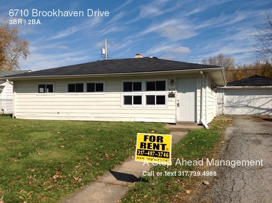 3 Bedrooms 1 Bathroom House for rent at 6710 Brookhaven Drive in Indianapolis, IN