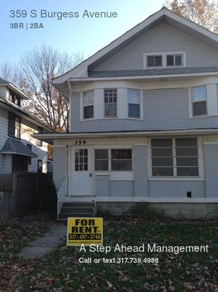 3 Bedrooms 2 Bathrooms House for rent at 359 S Burgess Avenue in Indianapolis, IN