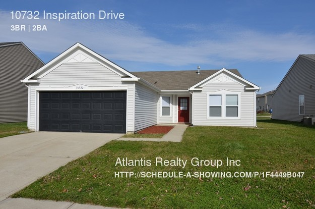 3 Bedrooms 2 Bathrooms House for rent at 10732 Inspiration Drive in Indianapolis, IN