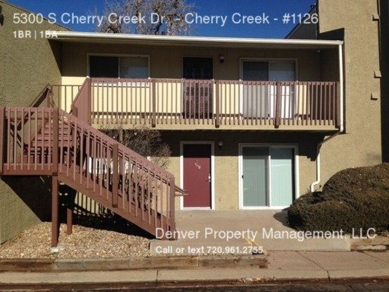 1 Bedroom 1 Bathroom House for rent at 5300 S Cherry Creek Dr Cherry Creek in Denver, CO