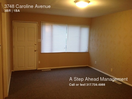 3 Bedrooms 1 Bathroom House for rent at 3748 Caroline Avenue in Indianapolis, IN