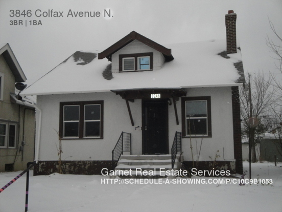 3 Bedrooms 1 Bathroom House for rent at 3846 Colfax Avenue N in Minneapolis, MN