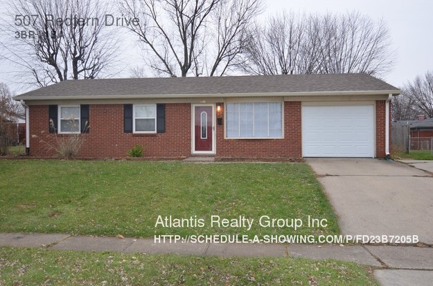 3 Bedrooms 1 Bathroom House for rent at 507 Redfern Drive in Indianapolis, IN