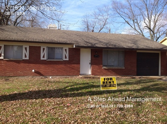 3 Bedrooms 1 Bathroom House for rent at 3716 N Joan Place in Indianapolis, IN