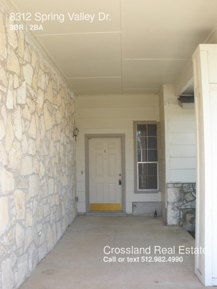3 Bedrooms 2 Bathrooms House for rent at 8312 Spring Valley Dr. in Austin, TX