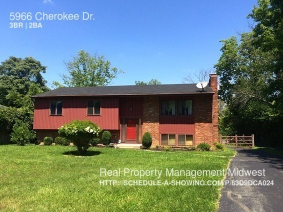 3 Bedrooms 2 Bathrooms House for rent at 5966 Cherokee Dr. in Cincinnati, OH