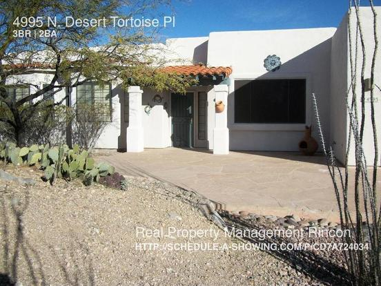 3 Bedrooms 2 Bathrooms House for rent at 4995 N. Desert Tortoise Pl in Tucson, AZ