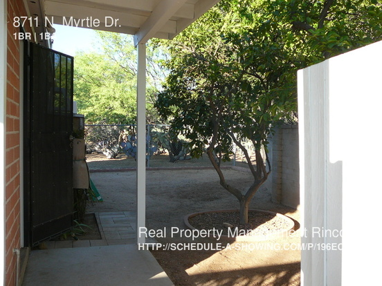 1 Bedroom 1 Bathroom House for rent at 8711 N. Myrtle Dr. in Tucson, AZ