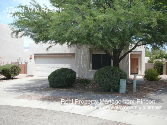 3 Bedrooms 2 Bathrooms House for rent at 1736 N. Wild Hyacinth in Tucson, AZ