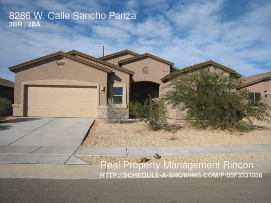 3 Bedrooms 2 Bathrooms House for rent at 8286 W. Calle Sancho Panza in Tucson, AZ