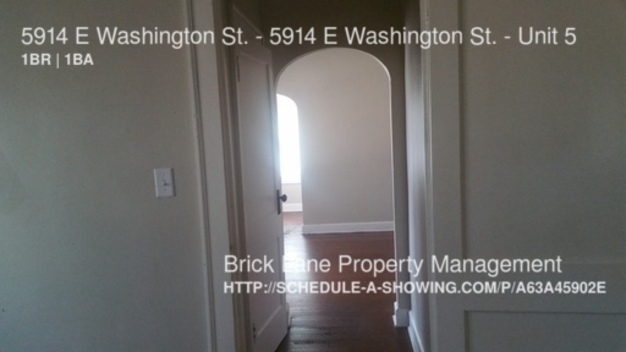 1 Bedroom 1 Bathroom House for rent at 5914 E Washington St. 5914 E Washington St. in Indianapolis, IN
