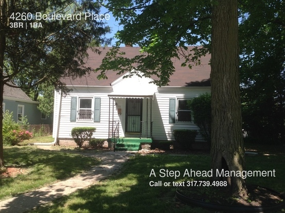 3 Bedrooms 1 Bathroom House for rent at 4260 Boulevard Place in Indianapolis, IN