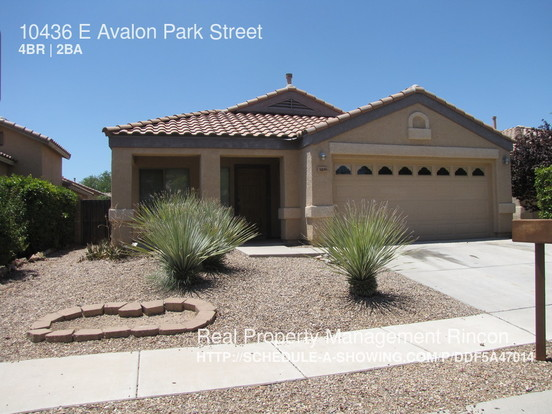 4 Bedrooms 2 Bathrooms House for rent at 10436 E Avalon Park Street in Tucson, AZ
