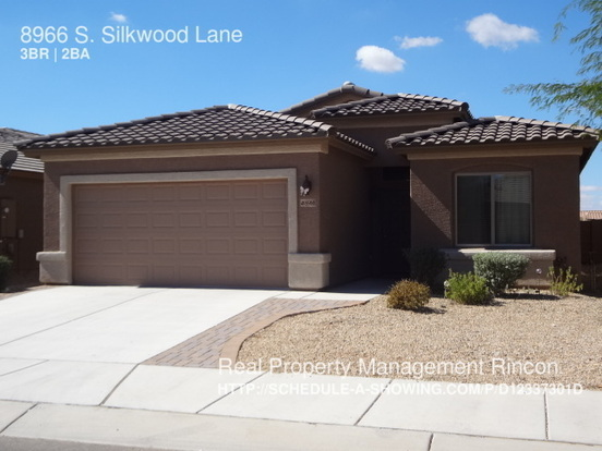3 Bedrooms 2 Bathrooms House for rent at 8966 S. Silkwood Lane in Tucson, AZ
