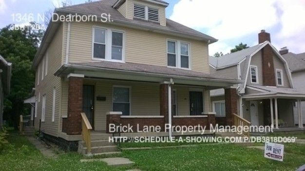 3 Bedrooms 1 Bathroom House for rent at 1346 N. Dearborn St. in Indianapolis, IN