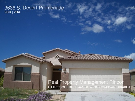 2 Bedrooms 2 Bathrooms House for rent at 3636 S. Desert Promenade in Tucson, AZ