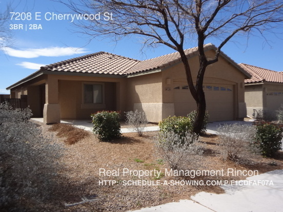 3 Bedrooms 2 Bathrooms House for rent at 7208 E Cherrywood St in Tucson, AZ