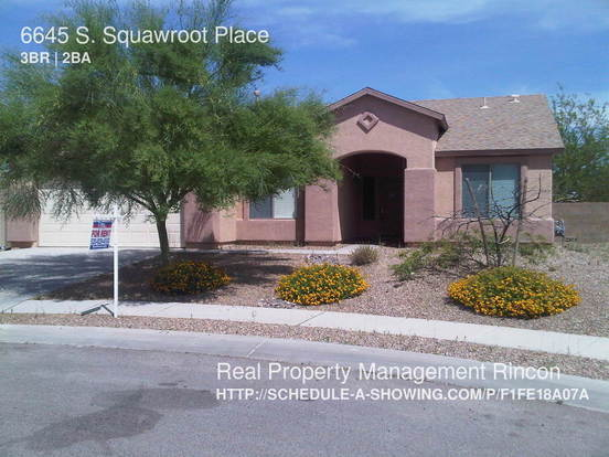 3 Bedrooms 2 Bathrooms House for rent at 6645 S. Squawroot Place in Tucson, AZ