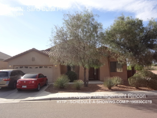 4 Bedrooms 2 Bathrooms House for rent at 8565 N. Sand Dune Pl in Tucson, AZ