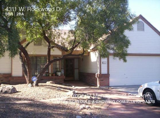 3 Bedrooms 2 Bathrooms House for rent at 4311 W. Rockwood Dr. in Tucson, AZ