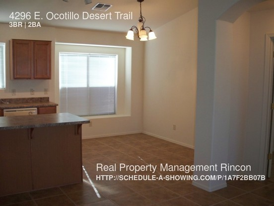 3 Bedrooms 2 Bathrooms House for rent at 4296 E. Ocotillo Desert Trail in Tucson, AZ