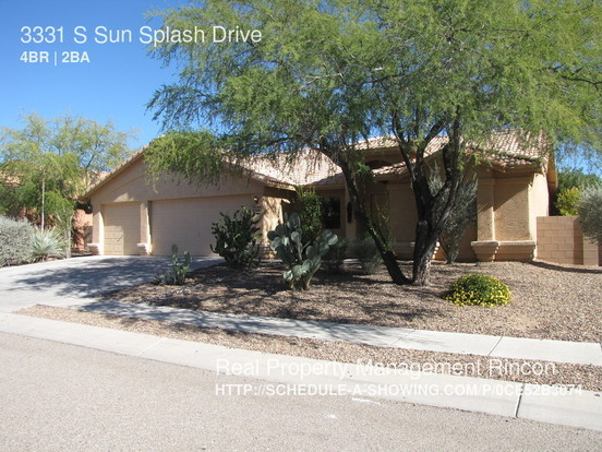 4 Bedrooms 2 Bathrooms House for rent at 3331 S Sun Splash Drive in Tucson, AZ