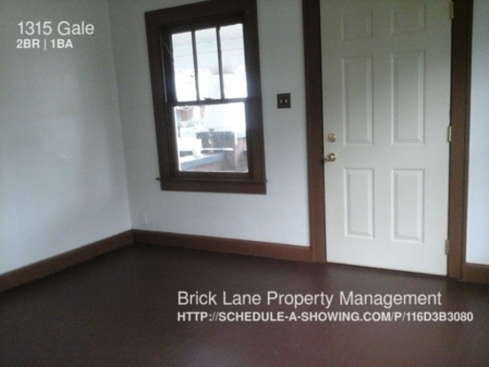 2 Bedrooms 1 Bathroom House for rent at 1315 Gale in Indianapolis, IN