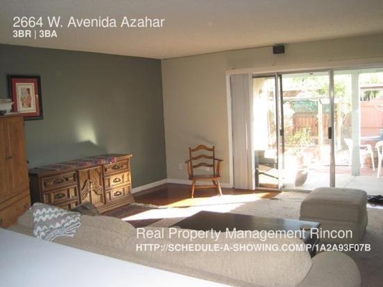 3 Bedrooms 2 Bathrooms House for rent at 2664 W. Avenida Azahar in Tucson, AZ